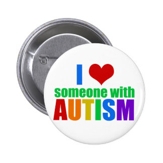 Amour d'autisme badge rond 5 cm