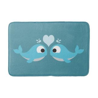 Amour de baleine tapis de bain