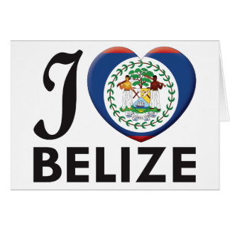 Amour de Belize Carte De Vœux