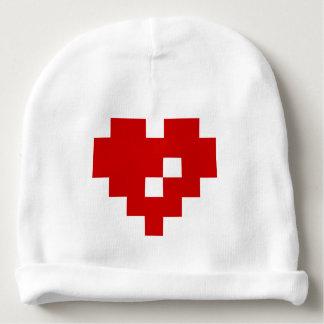 Amour de bit du coeur 8 de pixel bonnet de bébé