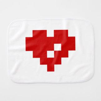 Amour de bit du coeur 8 de pixel linge de bébé