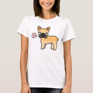 Amour de bouledogue français de bande dessinée de t-shirt