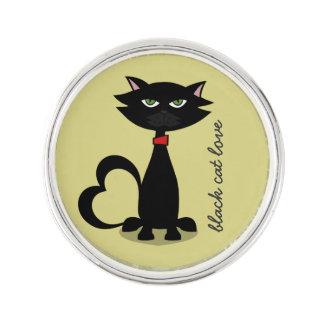 amour de chat noir - chartreuse pin's