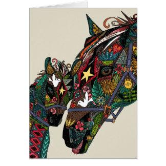 amour de cheval carte de vœux