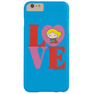 AMOUR de Chibi Supergirl Coque iPhone 6 Plus Barely There