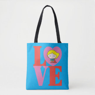 AMOUR de Chibi Supergirl Tote Bag