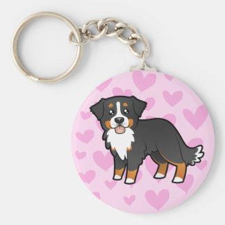 Amour de chien de montagne de Bernese Porte-clé Rond