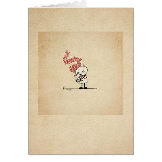 Amour de chiot - amoureux des chiens carte de vœux