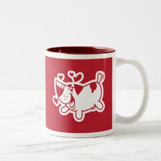 Amour de chiot (cadeau de mariage) tasse