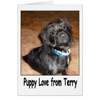 """""""Amour de chiot carte adorable de Terry"""""""