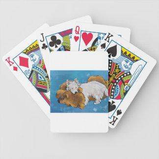 Amour de chiot cartes à jouer