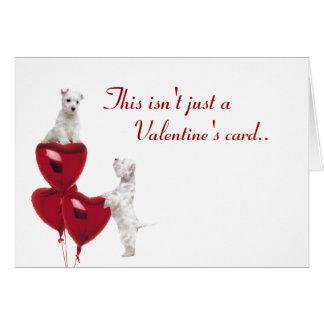 Amour de chiot de Westie sous enveloppe - 2ème Carte De Vœux