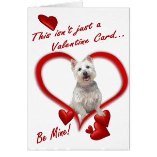 Amour de chiot de Westie sous enveloppe - nouvelle Carte De Vœux