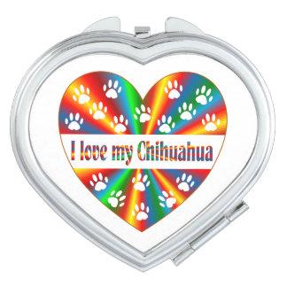 Amour de chiwawa miroirs de poche