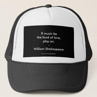 Amour de citation de William Shakespeare Casquette