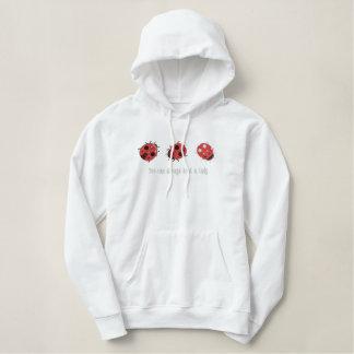 Amour de coccinelle sweatshirt avec capuche brodé