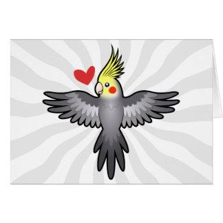Amour de Cockatiel Carte De Vœux