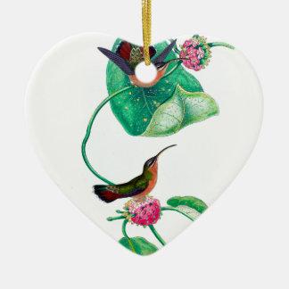 Amour de colibri ornement cœur en céramique