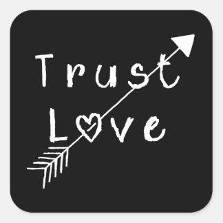 Amour de confiance sticker carré