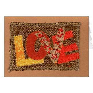Amour de couleur de chute carte de vœux