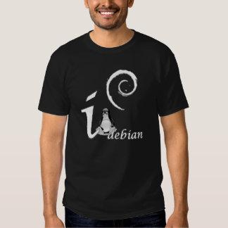 Amour de Debian - thème frais de glace T-shirts