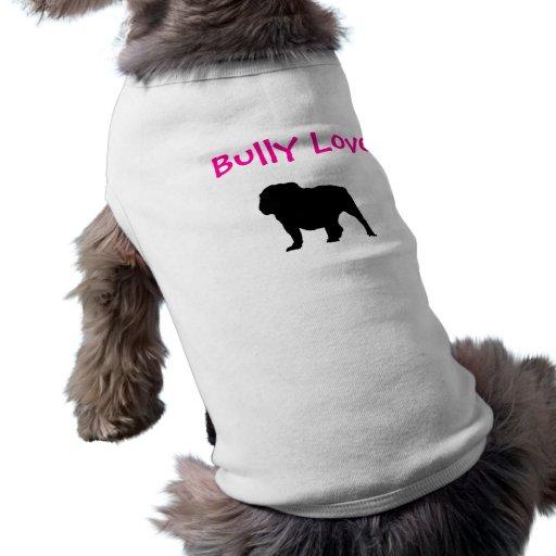 Amour de despote, bouledogue anglais t-shirt pour animal domestique