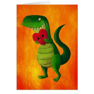 Amour de dinosaure de RAWR Carte De Vœux