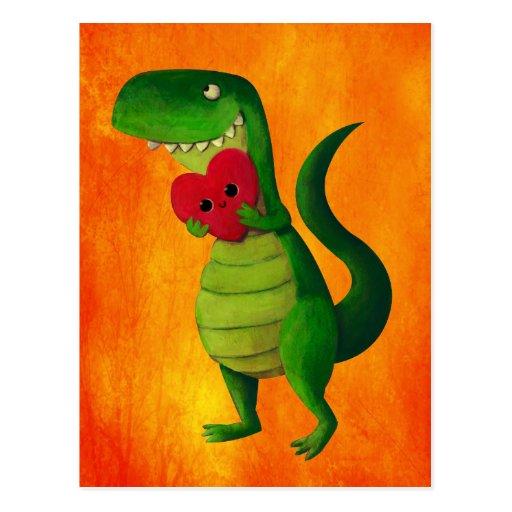 Amour de dinosaure de RAWR Carte Postale