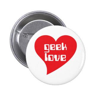 Amour de geek par conception de Genepool Badge Rond 5 Cm