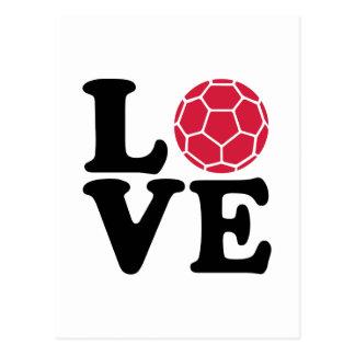Amour de handball carte postale