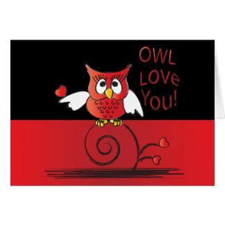 Amour de hibou vous Valentine Carte De Vœux