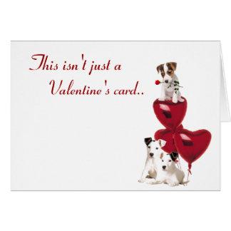 Amour de Jack Russell dans une nouvelle version de Carte De Vœux