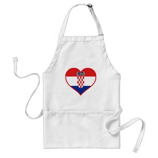 Amour de la Croatie Tablier