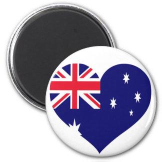 Amour de l'Australie Magnet Rond 8 Cm