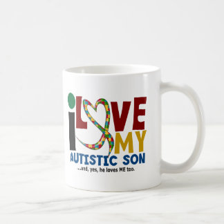Amour de l'AUTISME I mon fils autiste 2 Mug Blanc