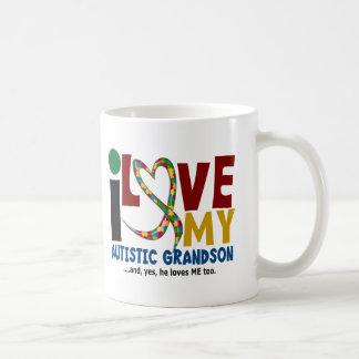 Amour de l'AUTISME I mon petit-fils autiste 2 Mug Blanc