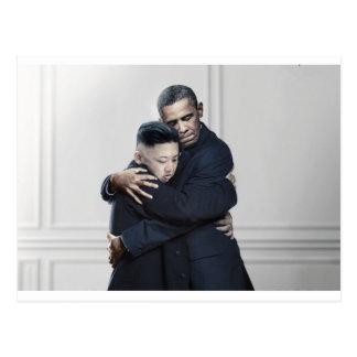 Amour de l'ONU Corée du Nord d'Obama Kim Jong Carte Postale