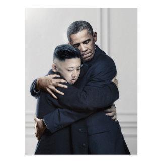 Amour de l'ONU Corée du Nord d'Obama Kim Jong Cartes Postales