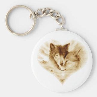 Amour de loup porte-clé