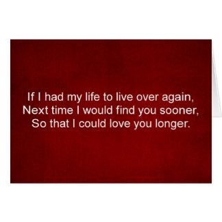 Amour de ma carte de citation d'amour de