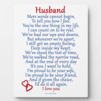 Amour de mari impressions sur plaque