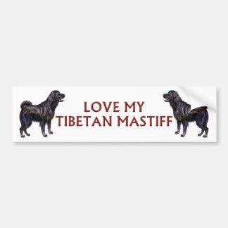 amour de mastiff tibétain autocollant pour voiture