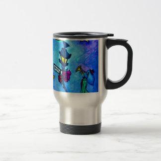 Amour de musical d'éléphant mug de voyage