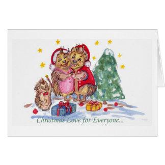 Amour de Noël pour chacun Cartes