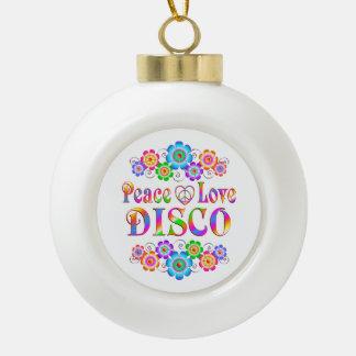 Amour de paix de disco boule en céramique