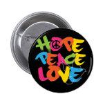 Amour de paix d'espoir badge