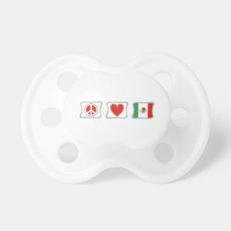 Amour de paix et carrés du Mexique Tétine