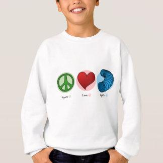 Amour de paix et sweatshirt d'enfants d'agilité de