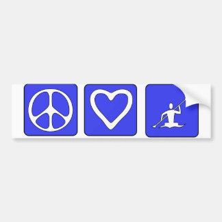 Amour de paix Kayaking Autocollant Pour Voiture