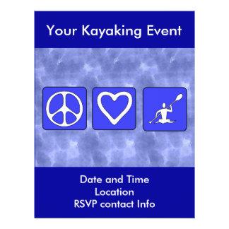Amour de paix Kayaking Prospectus 21,6 Cm X 24,94 Cm